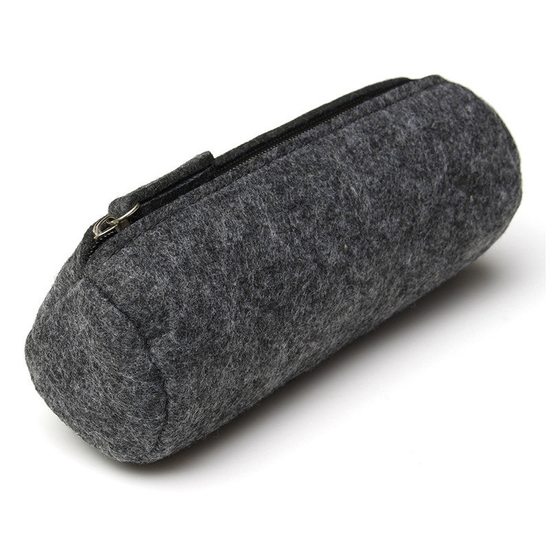 New Wool Felt Pencil Case Bag Big Capacity Multifunctional Pen Bag Stationery Pouch Purse Storage Bag Office School Supplies