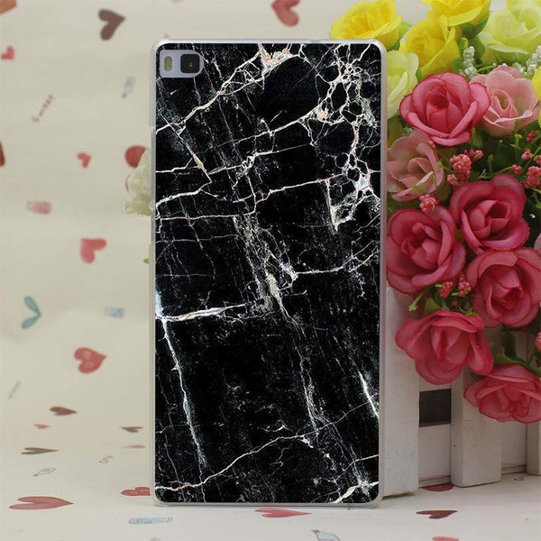 Newest Fashion Marble Hard Transparent Case Cover for Huawei P6 P7 P8 P9 Lite Plus & Honor 6 7 4C 4X G7 Case Cover