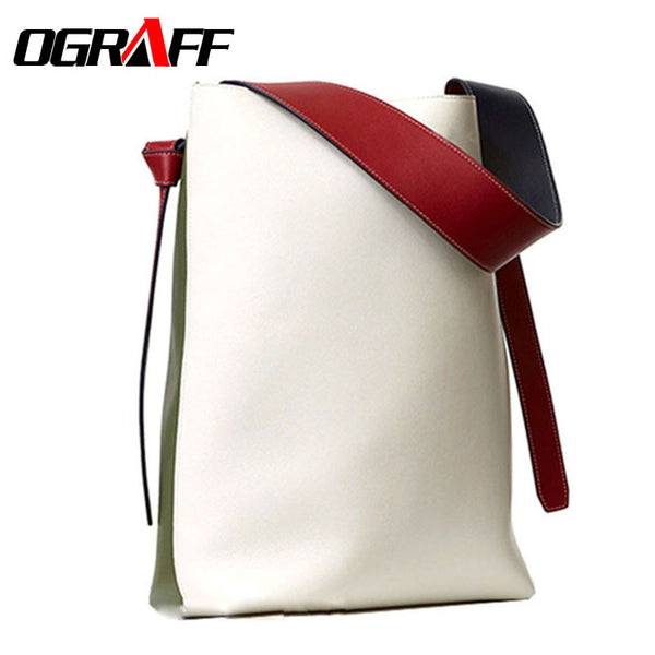 OGRAFF Women bag shopping hit color shoulder new bucket bags handbags women famous brands designer bolsas feminina high quality