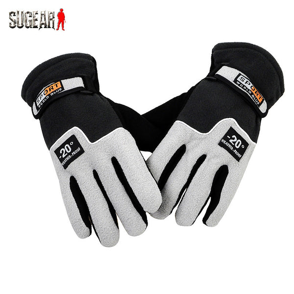 Outdoor Winter Sports Warm Fleece Full Finger Gloves Hunting Protective Breathable Cycling &Mountaineering Bump Anti-skid Gloves