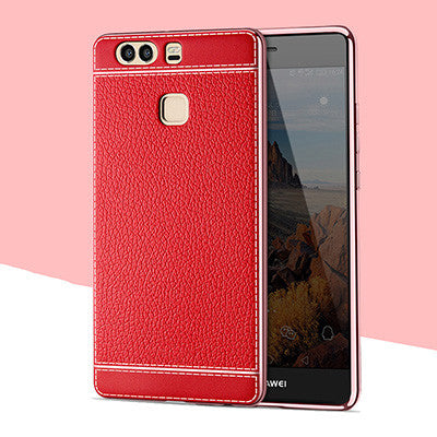 P9 Lite Case Luxury High Quality Plating Design Soft TPU Cover Case For Huawei P9 Huawei P9 Plus Mobile Phone Bag Coque Capa