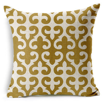 Personalized Retro Gold Geometric Printed Pillow Bed Sofa Cushion Home Decorative Throw Pillow Fundas Para Almofadas Cojines