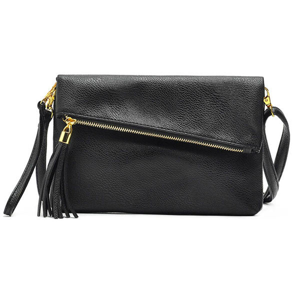Sevjink Tassel Solid Pu Handbags Women Fb5