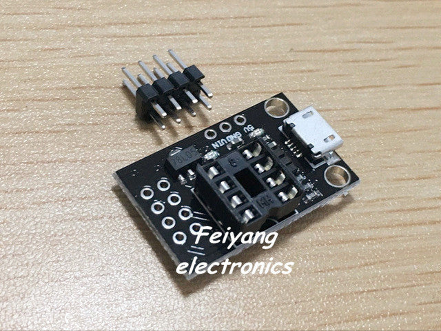Pluggable Development Board For ATtiny13A ATtiny25 ATtiny45 ATtiny85 Programming Editor Micro Usb Power Connector
