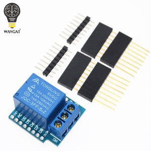 Relay Module For D1 MINI 5V hight level trigger One 1 Channel Relay Module interface Board Shield For WAVGAT D1 MINI