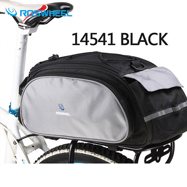 Cycling Bicycle Bags & Panniers Roswheel Bicycle Bag Multifunction 13l Bike Tail Rear Bag Saddle Cycling Bicicleta Basket Rack Trunk Bag Shoulder Handbag
