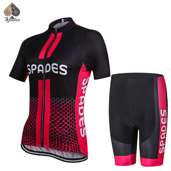 SPADES High quality Women Short Sleeve Cycling Jerseys Summer Breathable Cycling Clothing Bicycle Ropa Ciclismo Free shipping