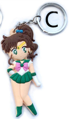 Sailor Moon Figure Toys PVC Pendant Keychain Keyring Action Figuras Model Doll Kids Friends Gift 2 Sides 5 Styles