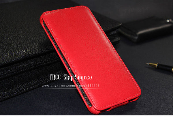 (Sale) For Nokia 630 635 case Leather Cover For Nokia Microsoft Lumia 630 635 phone cases Lichee Mobile Phone Bag P001