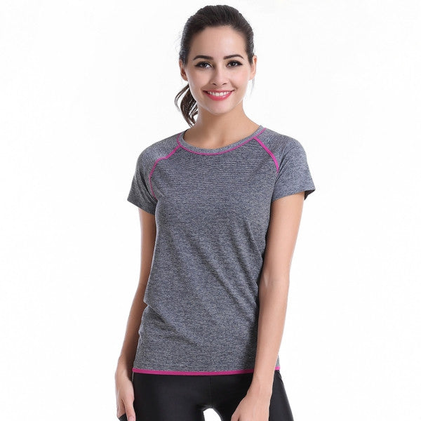 Screaming Retail Price Outdoor Womens Workout Fitness Gym Running T-Shirt Sports Top Yoga Tops