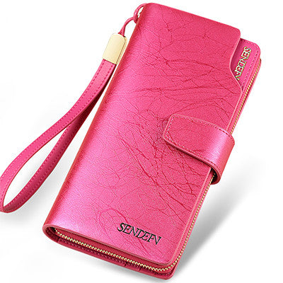 Sendefn Solid Split Leather Wallet Women 5020