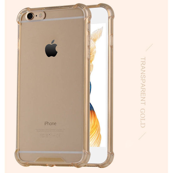 Silicone fundas Coque for iphone 5 5S SE Armor Transparent TPU silicon case for iphone 5 S cover 5S 6 6s 6 plus 7 plus capinha