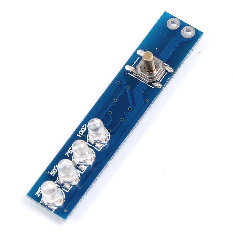 Single Lithium Battery Capacity Indicator LED Display Board Panel Capacity Power Level Indicator For 1pcs 18650 Lithium Battery