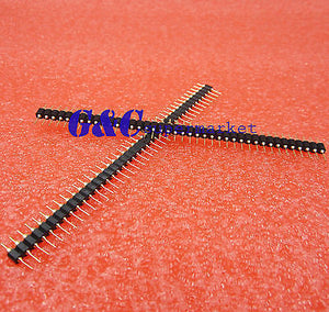 Single Row 40Pin 2.54mm Round Male Pin Header gold plated machined