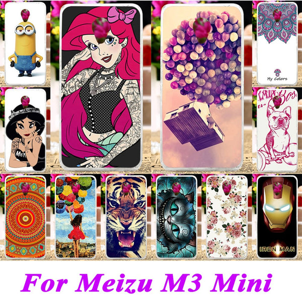Soft Silicon TPU & Plastic Phone Covers Cases For Meizu m3 mini m3s mini blue charm 3 3s meilan 3 5'' meilan3 Cases Shell covers
