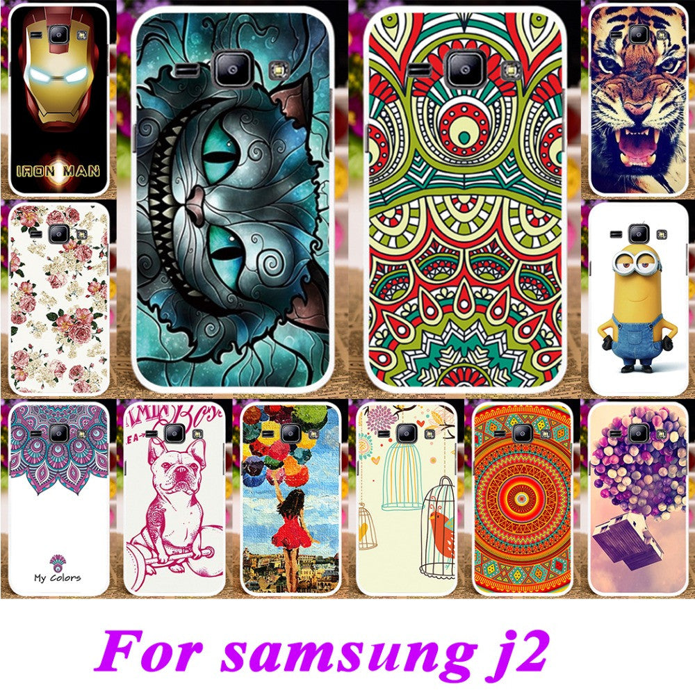 Soft Tpuampplastic Cases For Samsung Galaxy J2 Duos 2015 J200g Tpu Leather Style Case J200 J200gu J200f J200y J200h