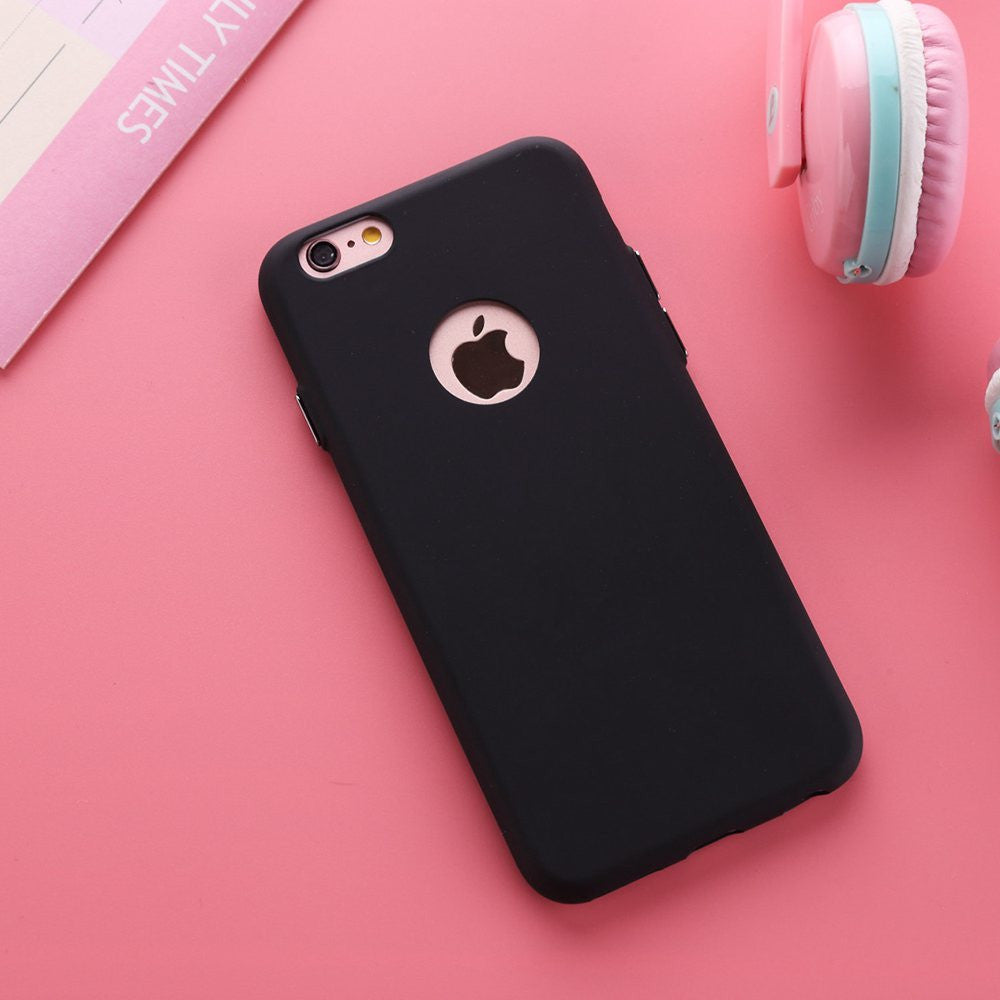 Solid Candy Color Matte Frosted Capa Case for iPhone 6S TPU Rubber ...