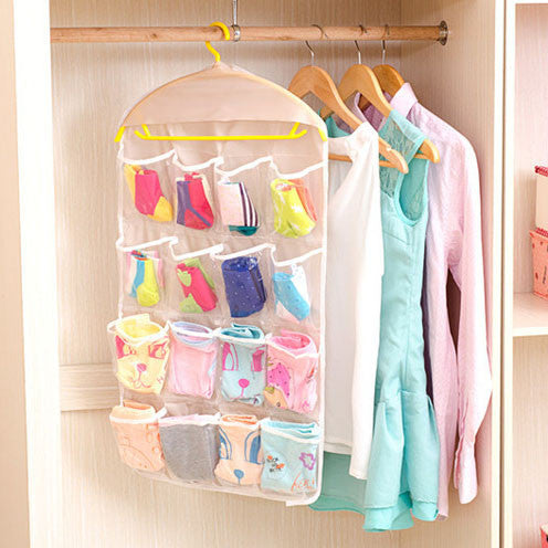 Sorting Storage Bag Multifunction Clear Socks Cosmetic Underwear Door Wall Hanging Closet Organizer Bag Cajas Organizadora HOT
