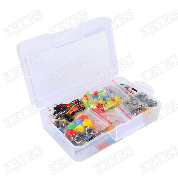 Starter Kit for Arduino Resistor LED Capacitor Jumper Wires Breadboard resistor Kit with Retail Box