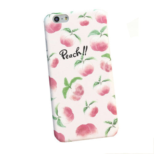 Summer Delicious Fruit Cartoon Case For iphone 5S Case For iphone 5 6 6S Plus Cute Juicy Peach Hard PC Phone Cases Cover Coque