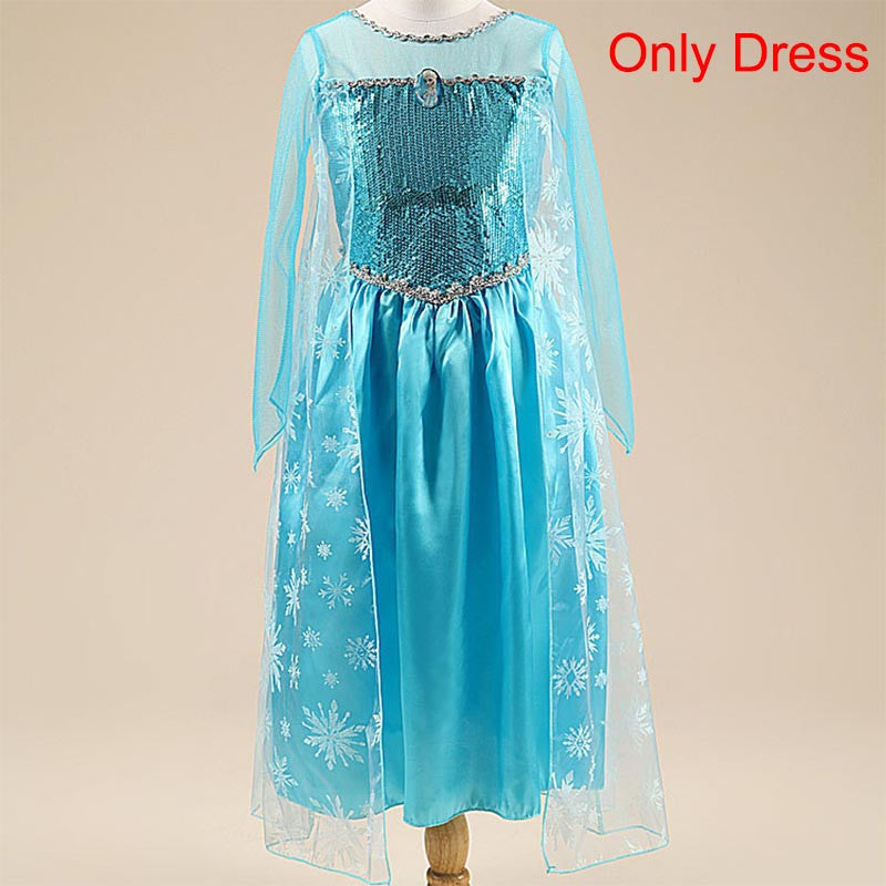 Summer Dress For Girls Anna Elsa elza Dress Kids Dresses Cartton disfraz princess sofia Girl disfraces rapunzel Costume clothes
