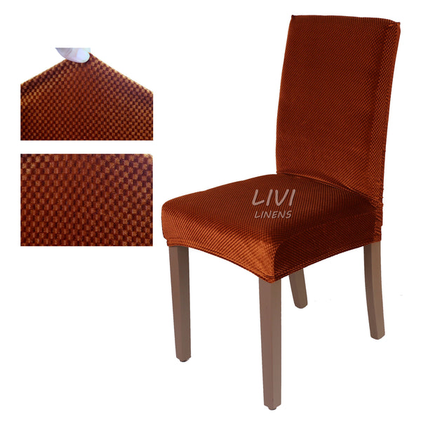 Super Fit Stretch Removable Washable Short Dining Chair Cover Protector Seat Slipcover for Hotel Dining Room Ceremony