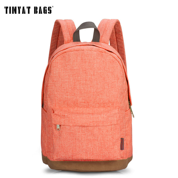 Tinyat Lock Solid Canvas Backpacks Women T101-backpack
