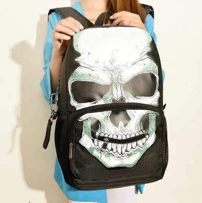 TULADUO 2016 Hot Sale bolsas Mochila Feminina Mojo Style Skeleton Package Street Punk Lovers Bag rock Skull Backpack