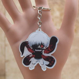 Tokyo Ghoul Kaneki Ken Touka Kirishima acrylic Keychain Action Figure Pendant Car Key Accessories Cartoon Collection LTX1