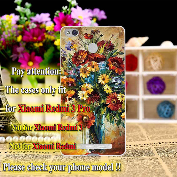 Top Selling Painting design Hard Plastic Case For Xiaomi Redmi 3S Redmi 3 Pro 5.0 inch Cell Phone Cover Shell Protective Sleeve