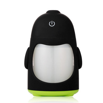 USB penguin Ultrasonic Aroma humidifier essential oil diffuser home office Mini aromatherapy colorful LED night light