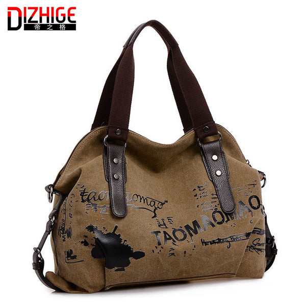 Dizhige Letter Canvas Handbags Women Yjyb0145