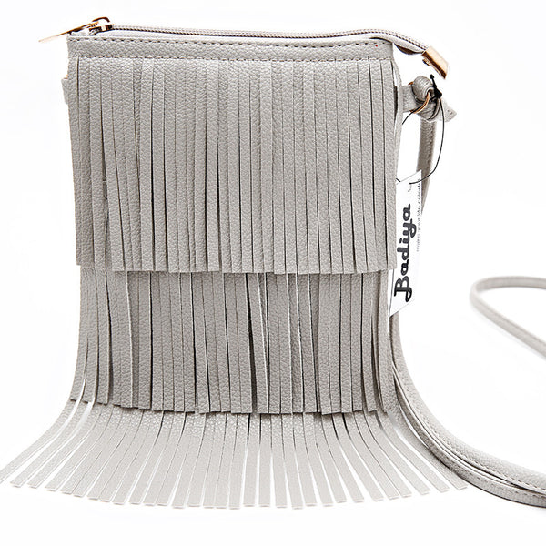 Badiya Tassel Solid Pu Handbags Women Hb02993