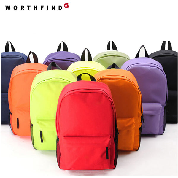 Worthfind Solid Canvas Backpacks Women Backpacks Ou023097