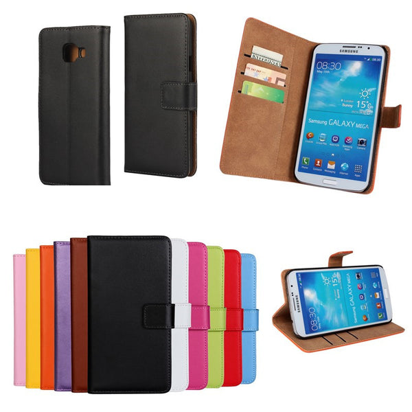 Wallet Leather Case For Samsung Galaxy Mega 6.3 I9200 A3 A5 A7 2016 Version S7 Edge Cover Accessories Fundas For Galaxy Mega 6.3