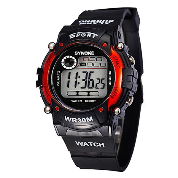 Sbao Leather Digital Plastic Digital Wristwatches Women Zl363