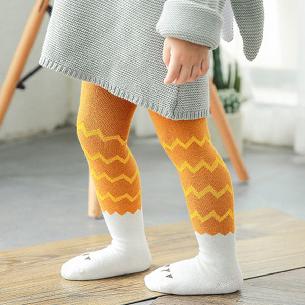 Wave Stripe Kawaii Tights For Girl Cotton Toddler Baby Pantyhose 0-3 Years Children's Clothing Accessories