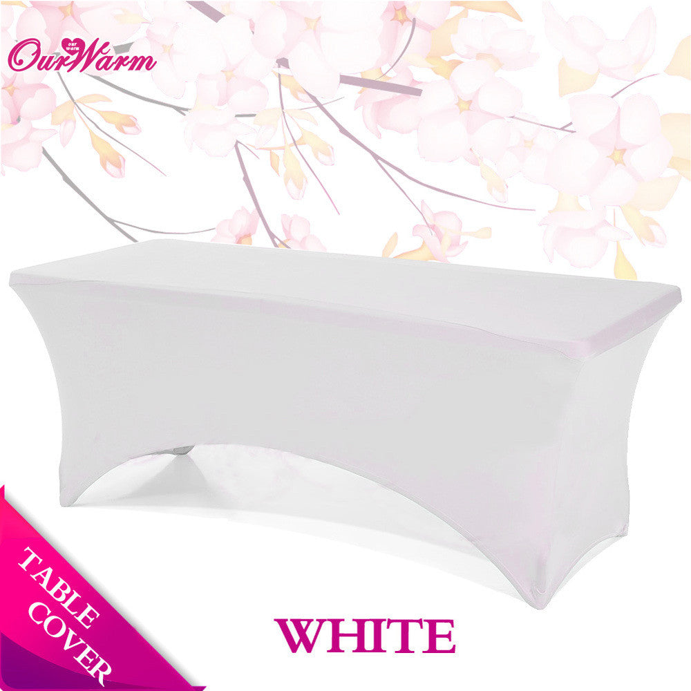 Wedding Table Cloth Spandex Tablecloths Rectangular Cocktail Table Cover Banquet Hotel Table Covers Party Supplies Home Textile