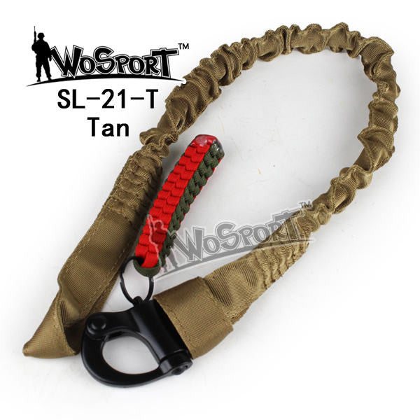 WoSporT Military Safety Lanyard Strap Rope Quick Release Line Climbing Rope Tactical Protective Sling for Outdoor Activities