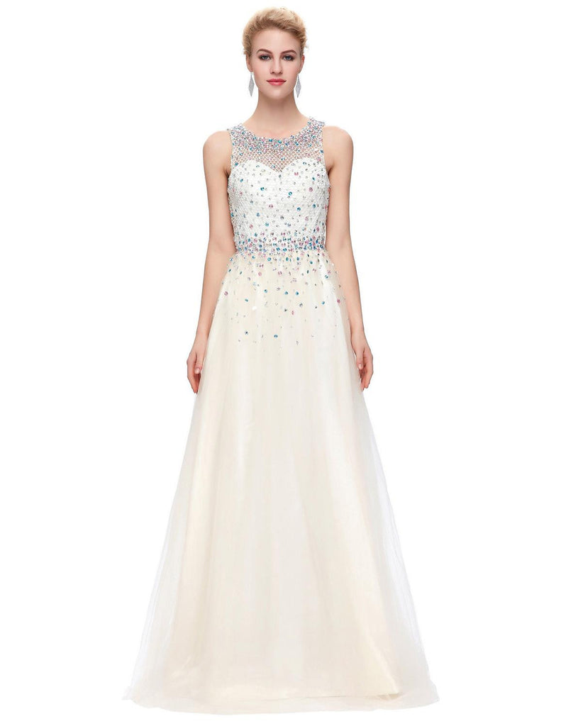 00845a695d ... Women Ball Gowns Long Evening Dresses with Crystals 2017 Engagement  Dress Sexy Formal Gown Floor Length ...