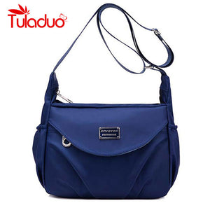 Tuladuo Letter Solid Nylon Handbags Women Dtd2350