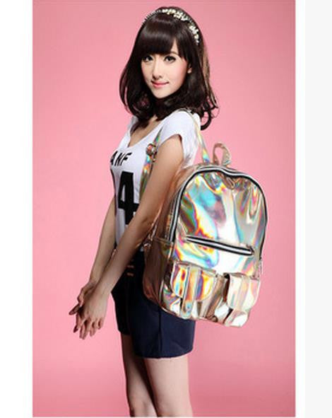Digibag Solid Pu Backpacks Women B1000173