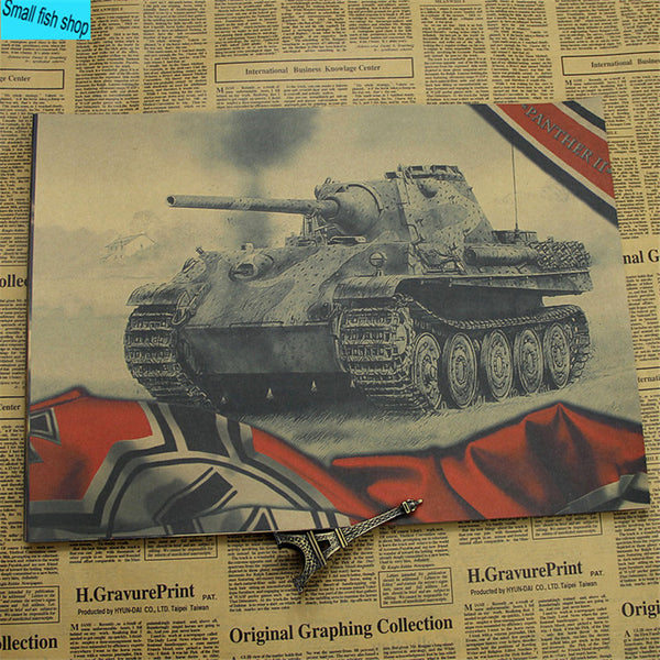 World of Tanks WOT B gather Tank war game Home Furnishing decoration Kraft Game Poster Drawing core Wall stickers