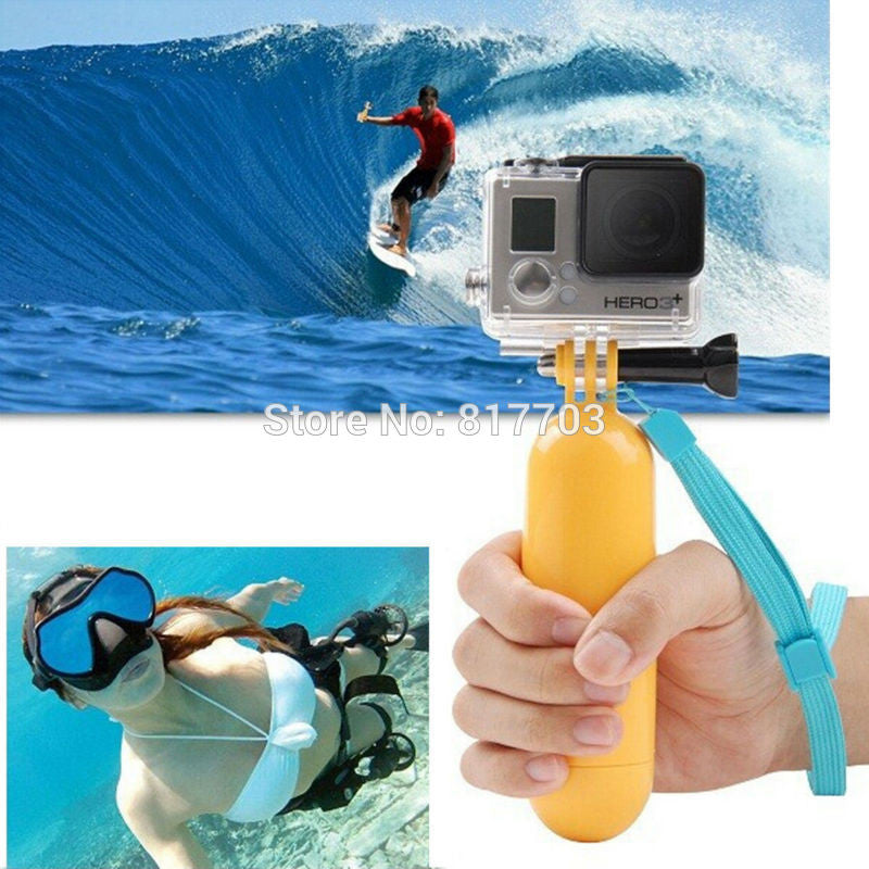 Yellow Water Floating Hand Grip Handle Mount Float Accessory For Gopro Hero 4 3+ 3 2 1 For Gopro Sj4000 Sj5000 Sj6000 Sj7000 New