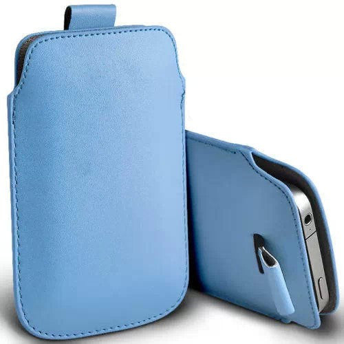 359cdbafaf ... Yota Phone 2 Case New Rope Holster Pull Tab Sleeve Pouch PU Leather Case  Stay Cord ...
