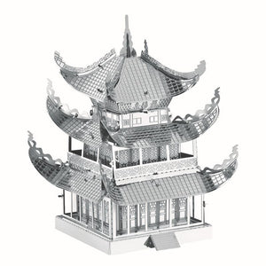 Yueyang Tower 3D Metal Puzzle Early Educational Toys Model Jigsaw Puzzle Kids Toys