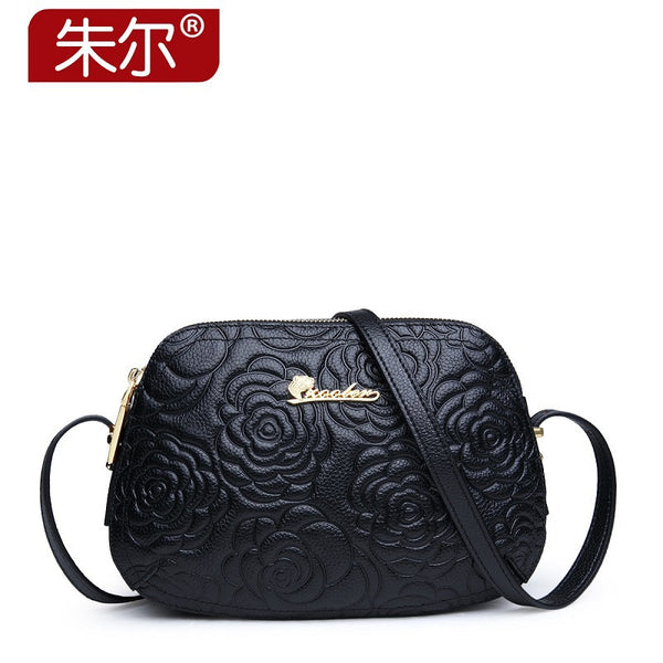 Zooler Floral Genuine Leather Handbags Women 2250