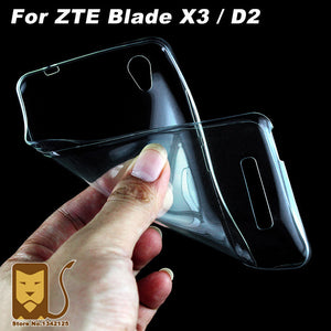 ZTE Blade X3 D2 Case Cover 0.6mm Ultrathin Transparent TPU Soft Cover Phone Case For ZTE Blade X3 D2 (5.0 inch)