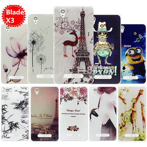 ZTE blade x3 d2 phone case TPU Soft painting case for ZTE blade x 3 d 2 case cover cartoon TPU ZTE x 3 d 2 case cover