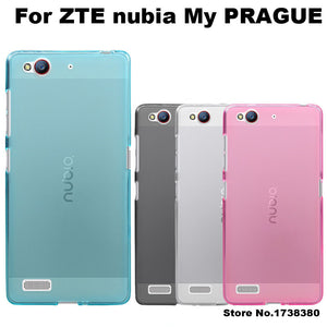 ZTE nubia My PRAGUE Case Cover 4 Colors Matte TPU Soft Back Cover Phone Case For ZTE nubia My PRAGUE Back Cover Case (5.2 inch)